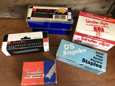 Mixed Lot Vintage Staples 5 Boxes & 1 Box of Binder Clips