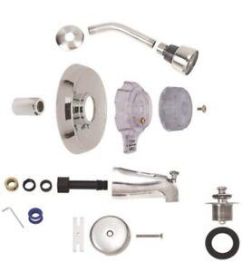 🌟BrassCraft Mixer SKD0201D, Complete Bath Tub & Shower Trim Kit, Satin Nickel