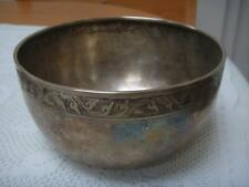 CHINESE WHITE METAL / SILVER  BOWL WITH UNKNOWN CHARACTER MARKS 148g