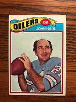 1977 Topps #83 John Hadl Football Card Houston Oilers Raw