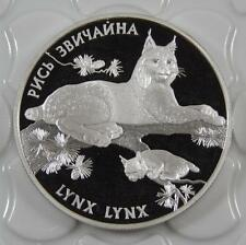 Ukraine 2001 Silver Proof 10 Hryvnia Lynx Coin C0309