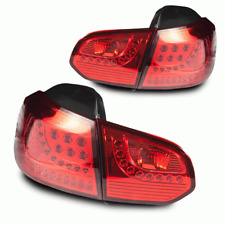 Winjet 2010-2014 Fits Volkswagen GTI Chrome Red Led Tail Light WJ20-0260-08