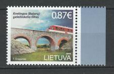Latvia 2015 Trains / Railroads MNH stamp