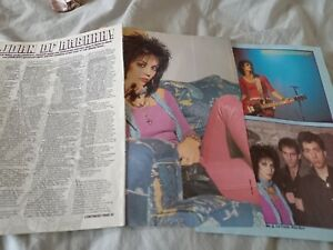 Joan Jett 1984 interview article / photos / poster
