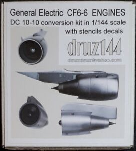 GE CF 6-6 engines for DC 10-10 kits conversion in 1/144 scale