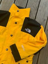 The North Face Mountain Gore-Tex Waterproof Hooded Jacket Small Yellow Vtg Rare