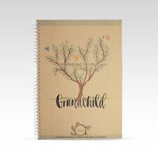RhiCreative Grandchild Memory Record Book Keepsake Baby Child Gift