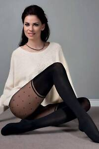 Spotted Mock Overknees Run Resistant Semi-Opaque Tights by Aurellie