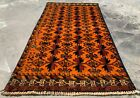 Authentic Hand Knotted Afghan Balouch Wool Area Rug 3 x 2 Ft (1406 HMN)