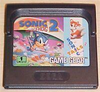 GameGear Sonic the Hedgehog 2 II Sega Game Gear Original vintage Game Cartridge
