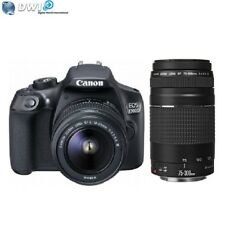 NUEVO CANON EOS 1300D DIGITAL SLR CAMERA + 18-55 III + EF 75-300MM F/4-5.6 III