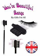 Steel Eyebrow Extension Eyelash Dual Comb Brush Cosmetic Makeup Tool CODE4 uk