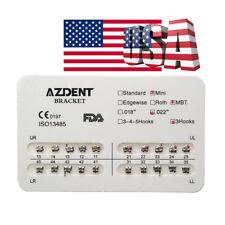 1 Pack Dental Orthodontics Brackets Braces 20 Pcs/Set Mini MBT 022 3 Hooks USA