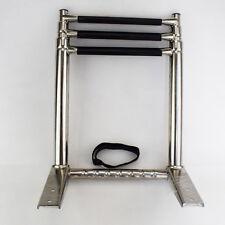 3 Step Stainless Steel Telescoping Folding Boat Ladder Over Platform Swim Step