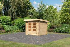 Karibu 28 mm Blockbohlenhaus Bastrup 2 naturbelassen / nur Lieferung