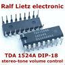 IC Baustein TDA 1524 DIP 18 stereo tone volume control intigrierte schaltung