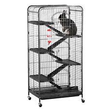 52'' Ferret Rabbit Cage 5-Level Indoor Hutch Cage Metal Pen Play w/Wheels NEW