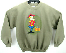 Vintage Dudley Do-Right Men's Size Large Crew Neck Sweatshirt Cartoon
