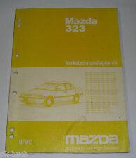 Werkstatthandbuch Mazda 323 Typ BG Schaltpläne Elektrik, Stand 08/1989