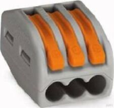 WAGO Verbindungsklemme 3x0,08-4qmm grau 222-413