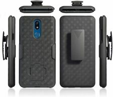 Lg Arena 2 Clip Holster Combo Armor Cell Phone Case With Kick Stand Cover At&T