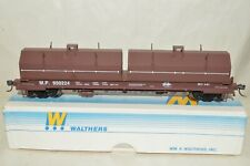 HO scale Walthers Missouri Pacific RR steel cushion coil flat car train