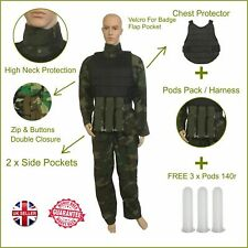 Paintballing Paintball Coverall Overall Chest Protector Armour Pod Pack 3 Pods