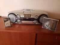 JVC RC-BM5 PORTABLE BOOMBOX - MP3 CD TAPE CASSETTE 2002