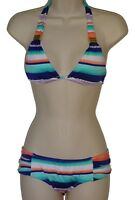 Bar III striped halter bikini size XS swimsuit new