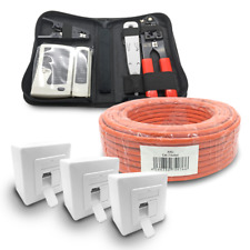 Cat 7 verlegekabel 100m cable de red 3x red lata cat6a herramienta Red