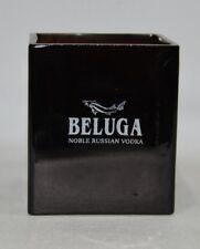 BELUGA Vodka Photophore / Pot crayon / Vide poche verre épais NEUF