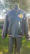 Los Angeles Lakers XL Leather Logo Jacket (NWT)