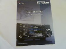 ICOM  7300 Transceiver company Brochure color with  features, and info on 7300