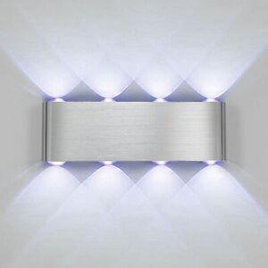 Modern 8W Wandleuchte LED Wandlampe Treppenhaus Licht Up Down Innenleuchte DHL
