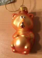 Collectible Old World Glass Cat Christmas Ornament