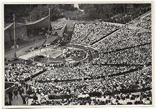WWII GERMAN Large 1936 OLYMPIC Sports Photo Image- Gymnastic Stadium- Floor Show