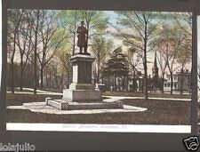 Vtg Postcard Soldiers Monument Kankakee ILL IL Illinois 1910 Early Divided Back
