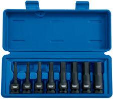 Draper Expert 8 piezas 1.3cm Cuadrado Dr. impacto Cabeza Hexagonal Juego llaves