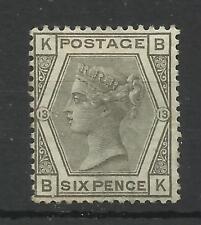 1873/80 Sg 147, 6d Grey (BK) Plate 13, Mounted Mint, no gum. (TT1165-4)