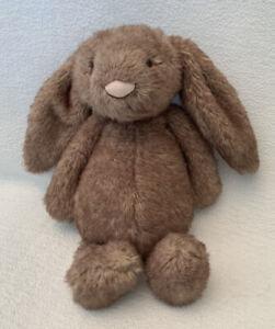"JELLYCAT Bashful Pecan Bunny 11"" Medium Plush Toy Animal Brown Retired Rare HTF"