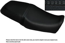 BLACK LEATHER GREY DS STITCH CUSTOM FITS YAMAHA SRV 250 DUAL SEAT COVER
