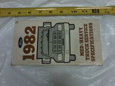 1982 Ford Medium Heavy Truck Specifications Booklet