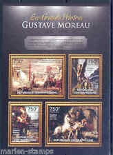 CENTRAL AFRICA 2012 GUSTAVE MOREAU SHEET MINT NH