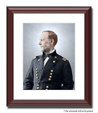 Gen Sherman Atlanta Savannah 11x14 Framed Photo Print Color Civil War -04445
