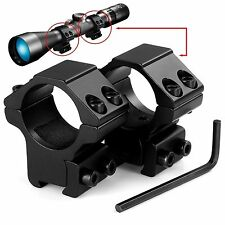 """Medium Profile Scope Rings for .22 Rifles & Airguns 3/8"""" Dovetail Mount 1"""" inch"""