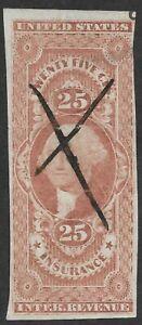 "Mr B's US Stamp #R46a -1862 - George Washington ""Insurance"" Revenue  -FREE SHIP"