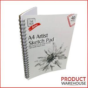 Artist Sketch Book Drawing Pad Spiral Bound White Paper A4 Art Craft Kids School