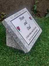 Personalised Grey Granite Memorial Grave Plaque Stone Headstone Cemetery Stone