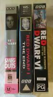 Red Dwarf VHS Lot: Smeg Outs, The End & Red Dwarf VI: Gunman of the Apolcalypse