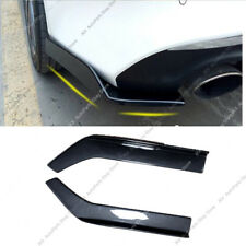 Carbon Fibe Universal Fit Rear Bumper Lip j Splitters Winglets PP 26X3.5 Inch 2x